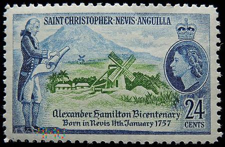 St.Christopher Nevis Anguilla 24c Elżbieta II