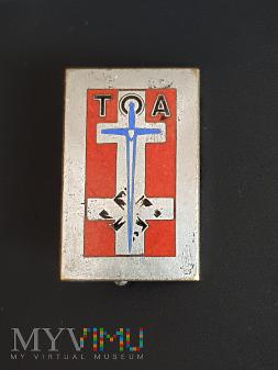 Odznaka TOA - Okupacja Niemiec - wojsk francuskich