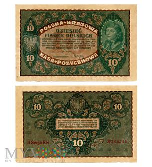 10 marek polskich 1919 (II Serja EN 219,514)