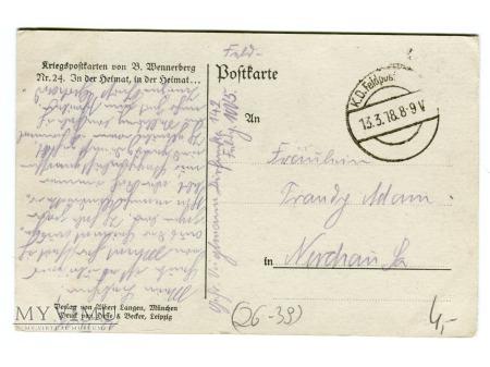 Brynolf Wennerberg Ojczyzna, Ojczyzna 1918