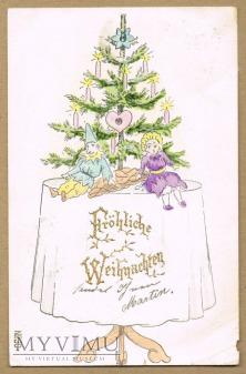 1901 rok świąteczna choinka