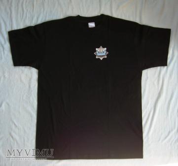 Koszulka czarna policji do munduru ćwiczebnego