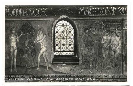 Wygnanie z raju - mozaika z Palermo