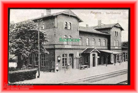 PLESZEW Pleschen, Dworzec kolejowy