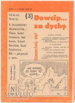 Duże zdjęcie Dowcip...za dychę 3/91