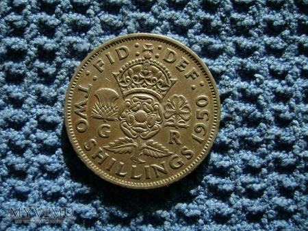 2 szyling (shilling) Wielka Brytania 1950