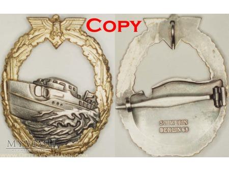 Odznaka dla Załóg Torpedowców i Patrolowców wzór I