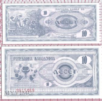 10 denarów- Macedonia