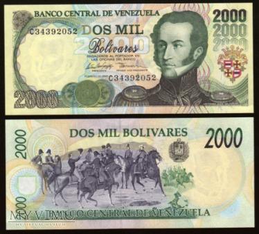 Venezuela - P 77c - 2000 Bolivares - 1998
