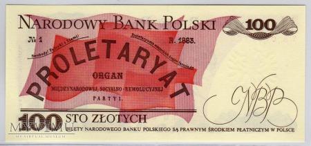 """MC 166 - 100 Złotych - 1986 - seria """"TB"""""""