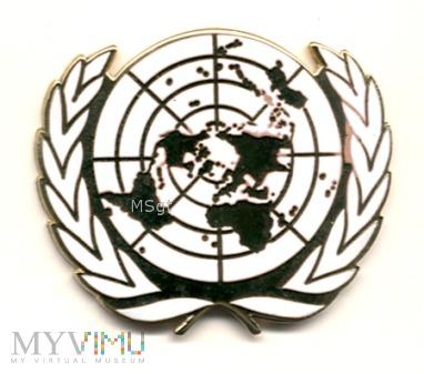 Duże zdjęcie METALOWA OZNAKA NA BERET ONZ