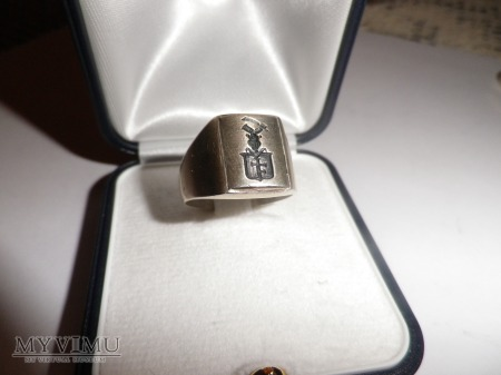 Herb Prus I- sygnet herbowy pieczętny srebrny