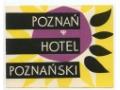 Nalepka hotelowa - Poznań - Hotel Poznański