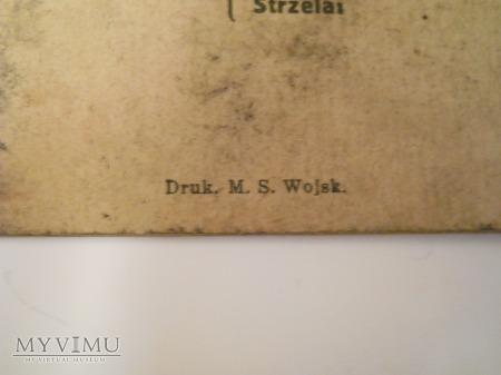 Książeczka strzelania R.K.M. oraz L.K.M. 1926