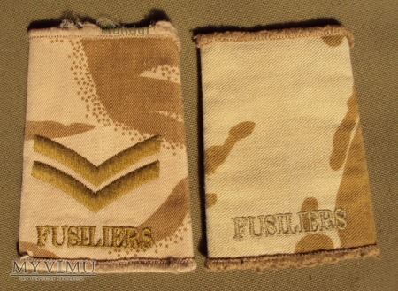 Wieka Brytania-oznaka stopnia: FUSILIERS