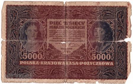 5000 marek polskich 1920r