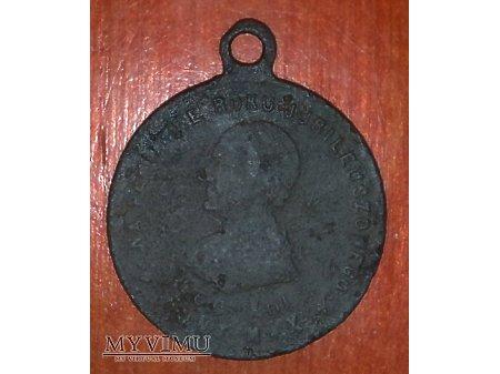 Stary medalik z Papieżem Leonem XIII nr. 3 z 1900