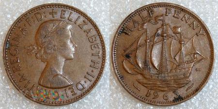 Wielka Brytania, half penny 1963