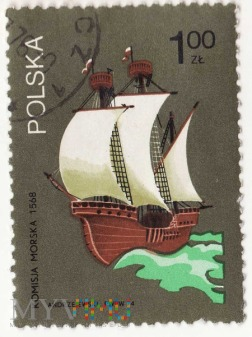 Komisja Morska - Polska 1968, 1zł
