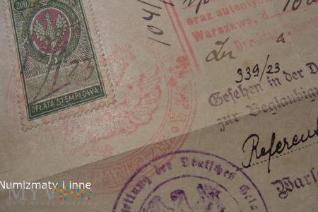 znaczek opłaty stemplowej za 200 marek polskich