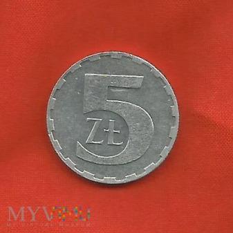 Polska 5 złotych, 1990 / 1989