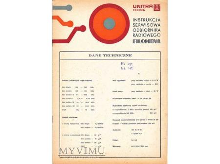 Instrukcja radia FILOMENA