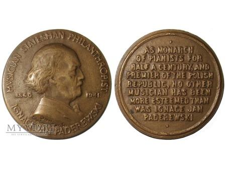 Ignacy Jan Paderewski medal pośmiertny 1941