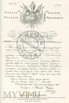 Dyplom na stopień podporucznika z 1913 roku