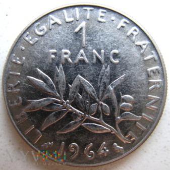 Duże zdjęcie 1 frank 1964 r. Francja