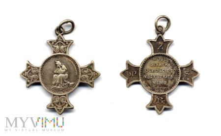 Krzyż od różańca z Matką Bożą z La Salette