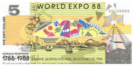 Duże zdjęcie Australia (Expo '88) - 5 dolarów (1988)
