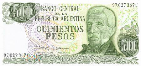 Argentyna - 500 pesos (1982)