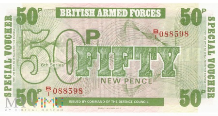 Wielka Brytania (BAF) - 50 nowych pensów (1972)