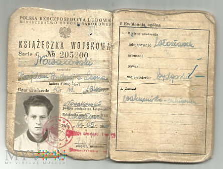 B.Nowakowski - książeczka wojskowa
