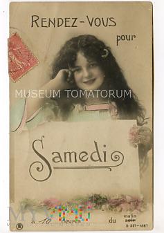 Pocztówka artystyczna - Spotkanie - 1907