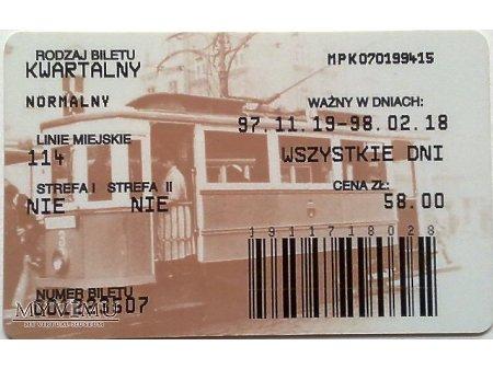 Bilet MPK Kraków 13