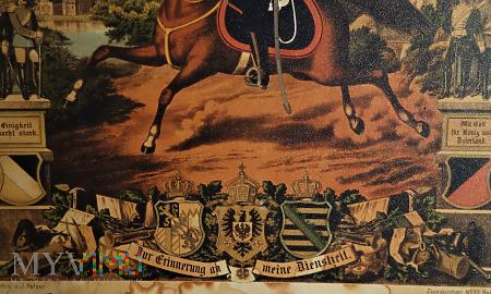Duże zdjęcie pamiątkowy dyplom ulana przeniesionego do rezerwy.