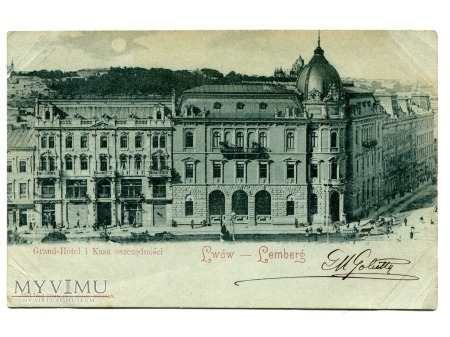 1900 LWÓW Hotel Kasa Oczędności tylko we Lwowie ..