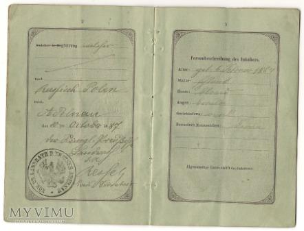SULMIERZYCE-SULMIRSCHUTZ PASZPORT 1887