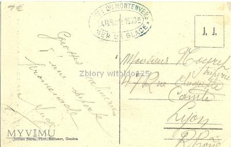 Chamonix - lodowiec - 1909 r.