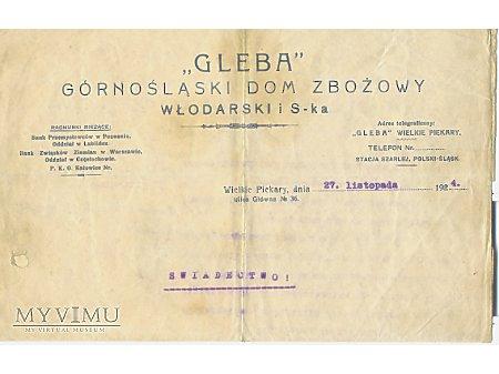 """""""GLEBA""""-papier firmowy"""