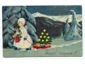 Aniołek Święta Choinka Prezenty 1934 Anioł sanki