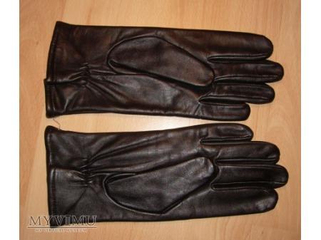 Rękawice skórzane czarne lekkoocieplane