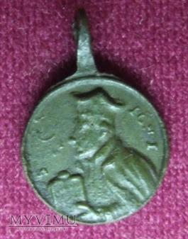 Stary medalik św. Franciszka i Ignacego Loyoli