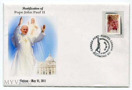 Papież Jan Paweł II koperta znaczki Beatyfikcja