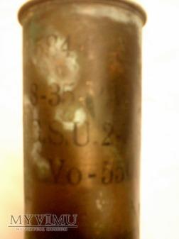 Polska łuska kal.75 mm.-1936 r.