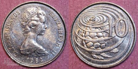 Kajmany, 10 CENTS 1982