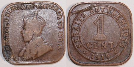 Straits Settlements, 1 Cent 1919r