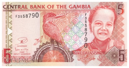 Gambia - 5 dalasis (2013)