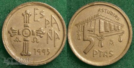 Hiszpania, 5 PTAS 1995